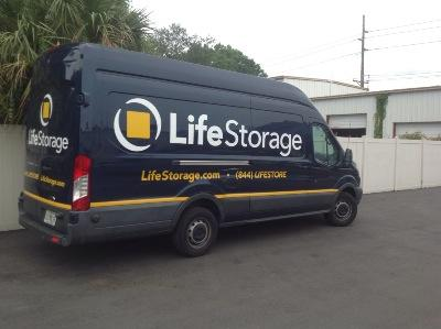 Truck rental available at Life Storage at 7550 W Waters Ave in Tampa