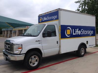 Truck rental available at Life Storage at 6015 Tezel Road in San Antonio