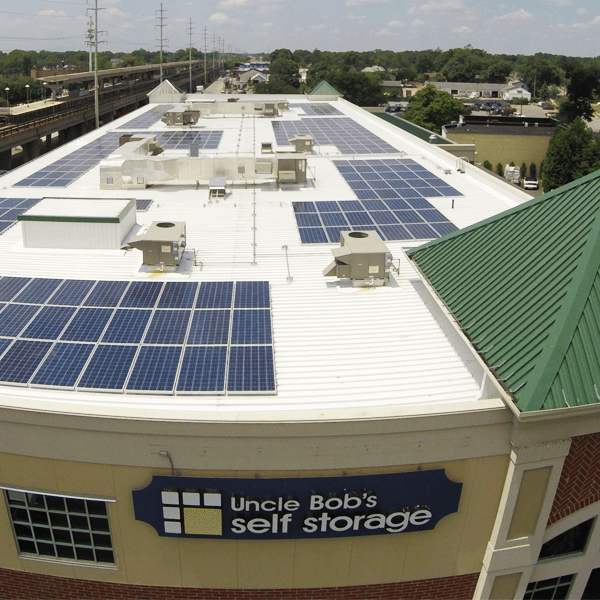 First storage facility powered by solar panels