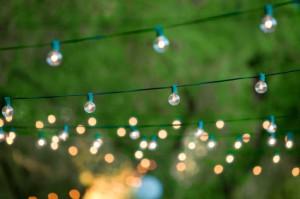 backyard party lights