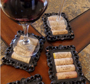 use wine corks for wine coasters