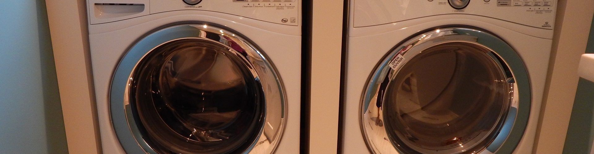 washer dryer white silver
