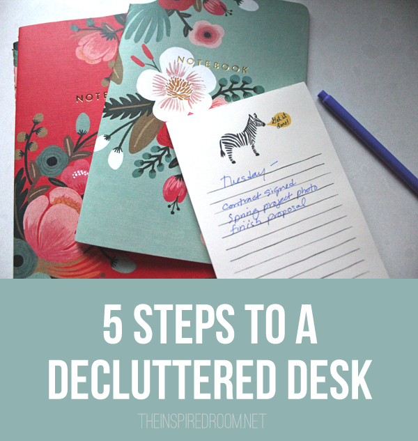 How to Declutter Your Desk, Tips from Melissa Michaels