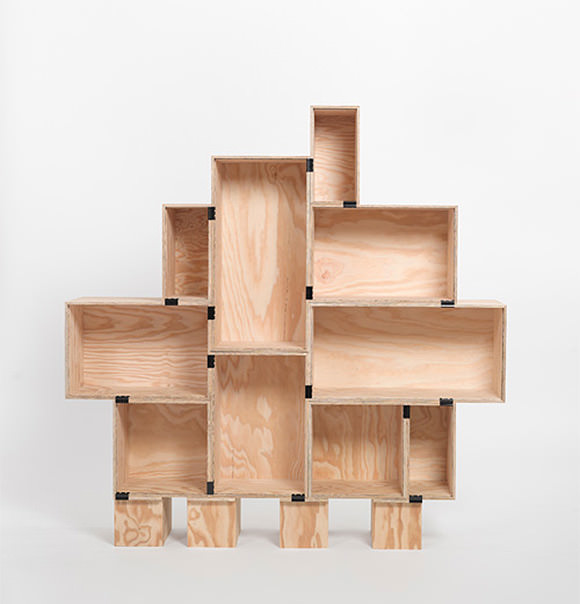 crates - binder clip shelf