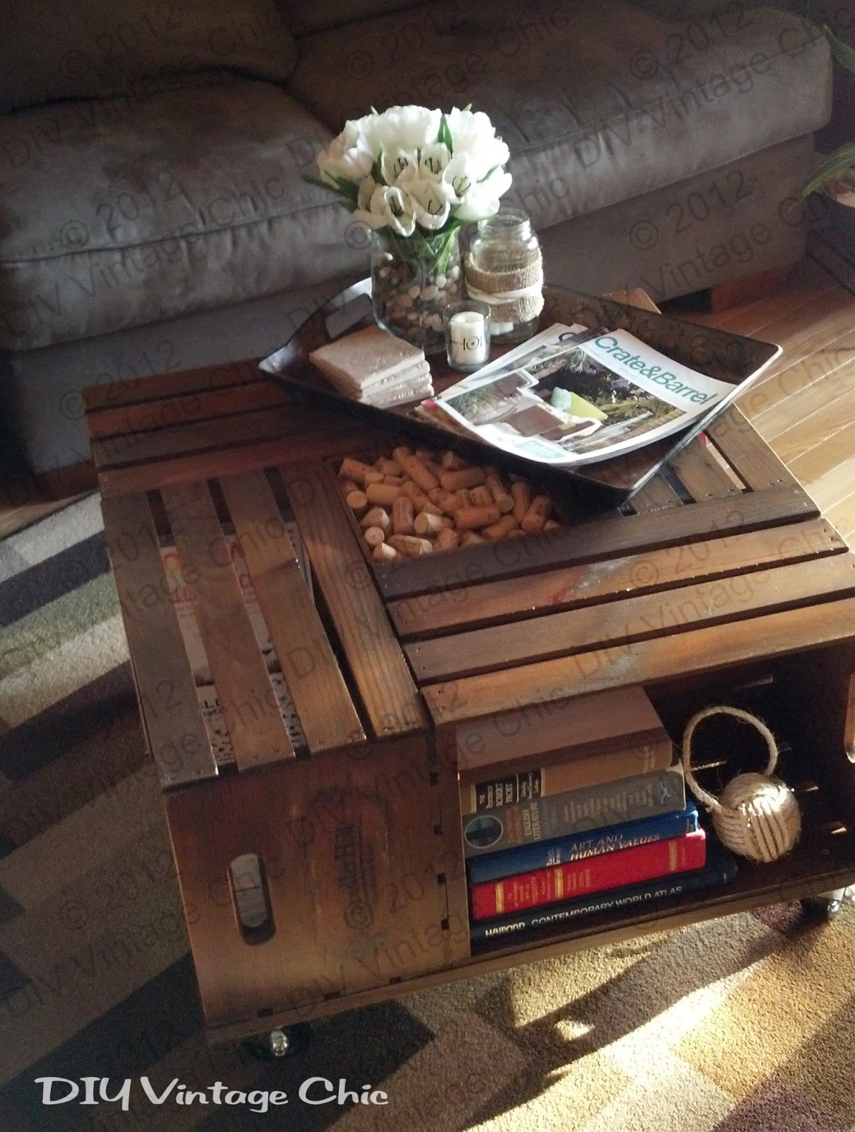 crates - coffee table
