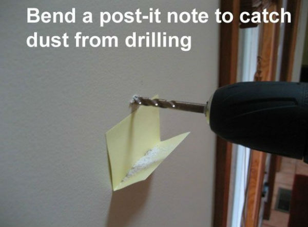 Drill and Post-It note