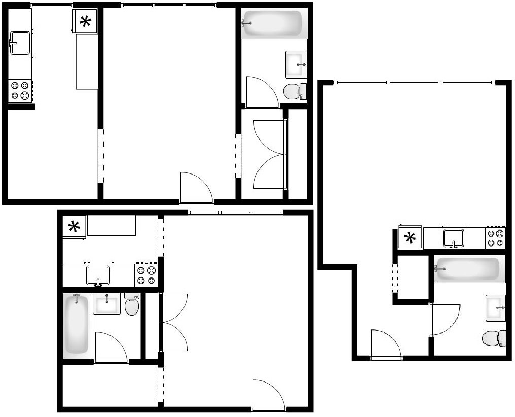 Studio   Floorplans
