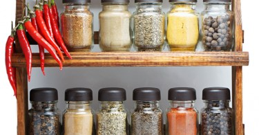 organizing spice rack