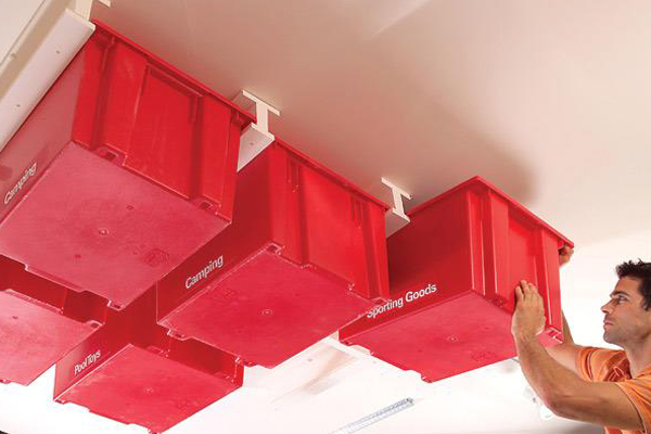Storage Bins on Your Garage Ceiling