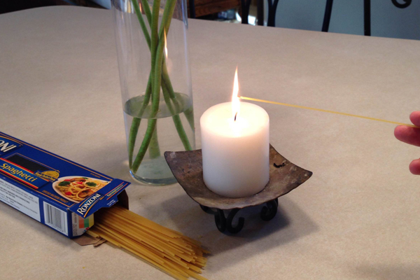 Light a Candle with Spaghetti