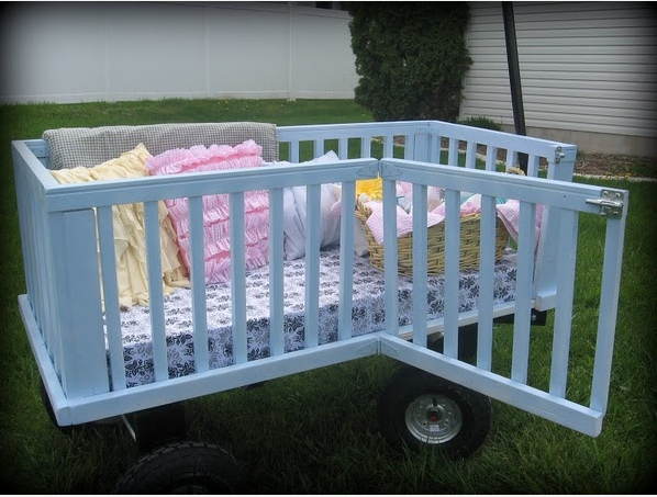 Repurposed crib wagon