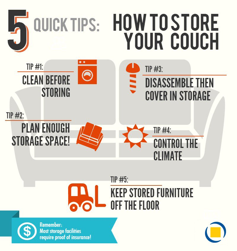 how to store your couch tips infographic