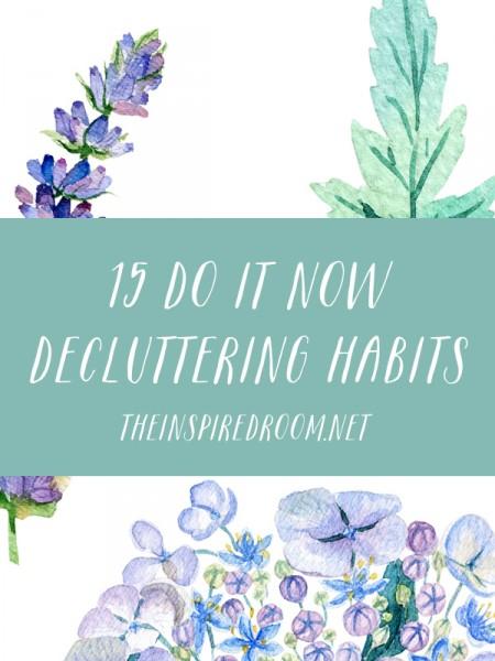 Important Decluttering Habits