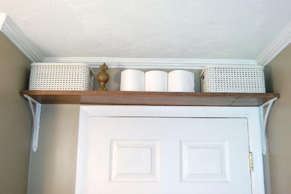 Shelf above door
