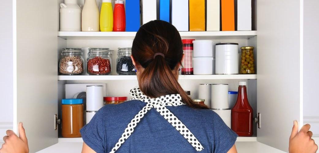 kitchen pantry organizing