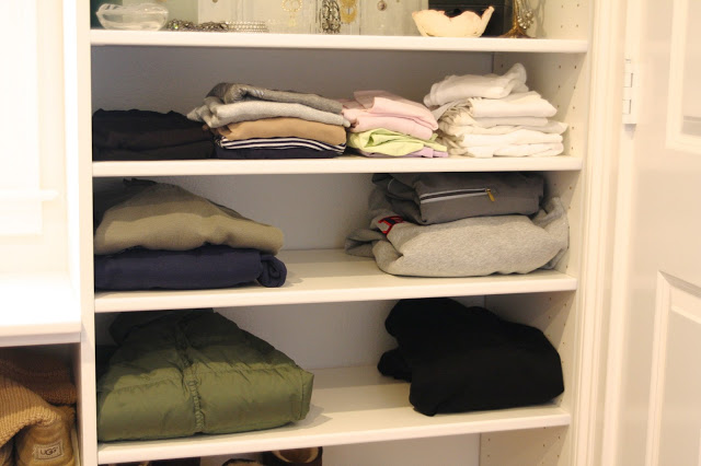 Instead Of Filling Your Bookcases With, Well, Books, Rethink The Way You  See Those Shelves. Use The Space To Store T Shirts, Pants, Sweaters And  Other Items ...