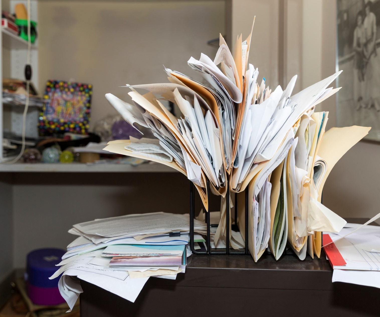 Use a Professional Organizer if You Have Too Much Paperwork