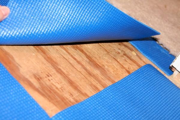 Use a Yoga Mat as Floor Padding