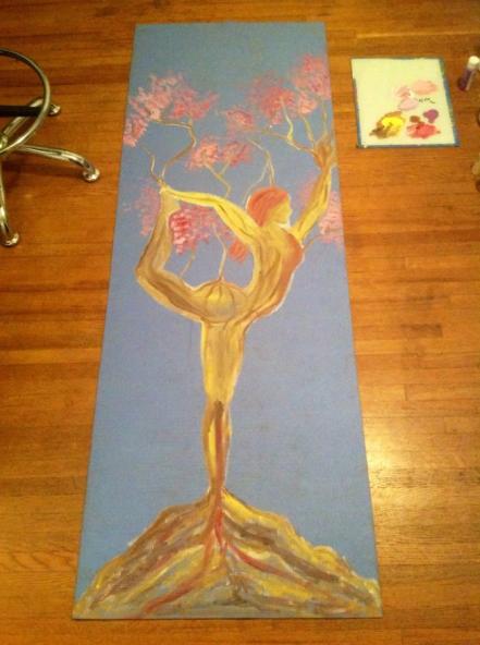 Make Art on a Yoga Mat