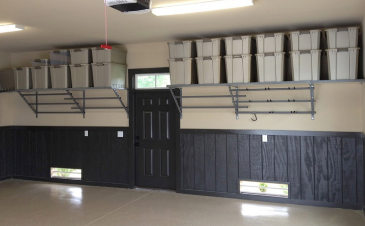 Garage makeover ideas for overhead storage shelves