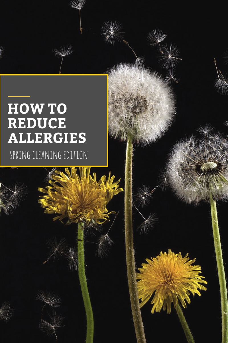 Learn ways to minimize your allergies while you're spring cleaning your house.