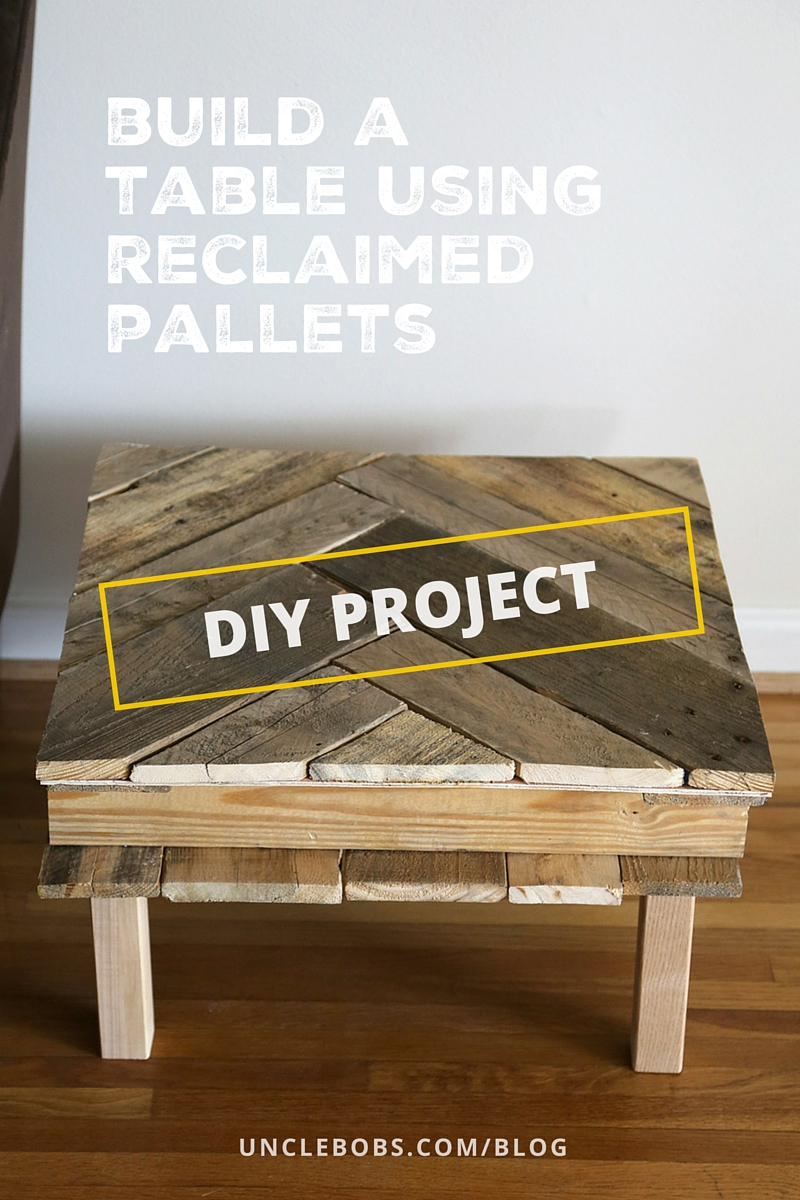 Delicieux Chevron Shaped Pallet Table Project