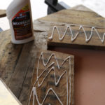 DIY V Shaped Wood Table