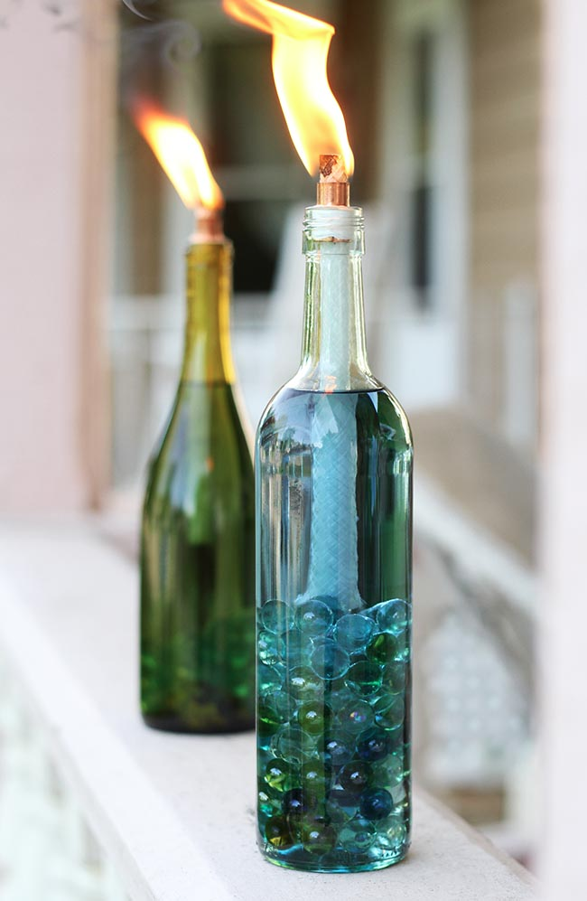 simple diy craft: best use of a wine bottle