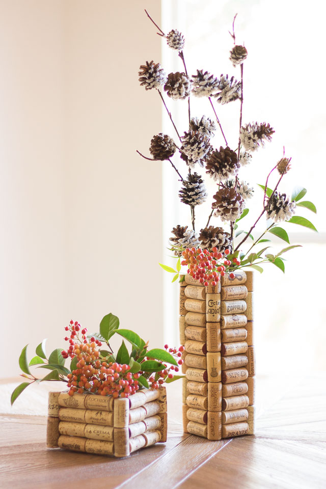Upcycled Cork Vase