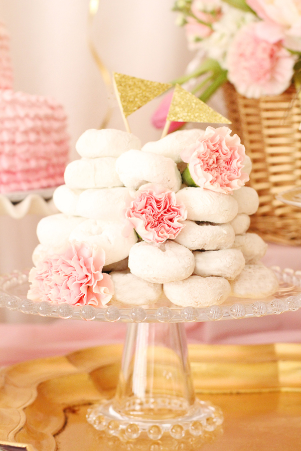 last minute bridal shower decoration ideas decorated donut tier