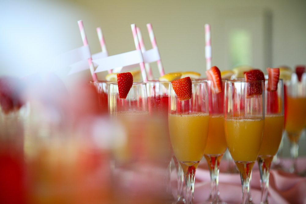 last-minute bridal shower decoration ideas: create-your-own-mimosa bar