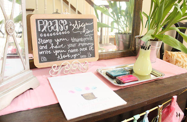 Last Minute Bridal Shower Decoration Ideas Chalkboard Sign