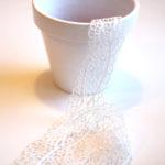 Lace Flower Pot Project