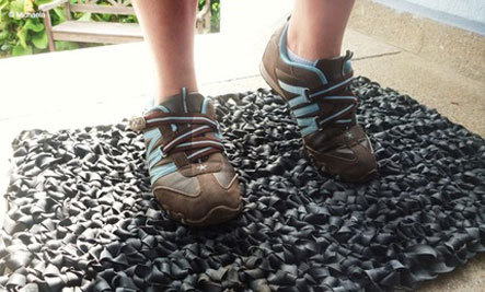 Reuse Old Tires: Upcycled Rug