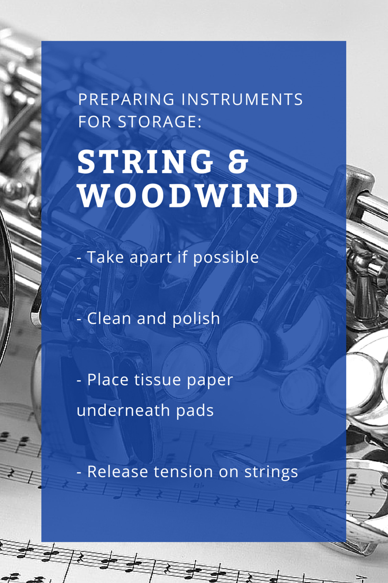 Woodwind and String Instrument Storage