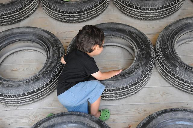 Reuse Old Tires: Obstacle Course
