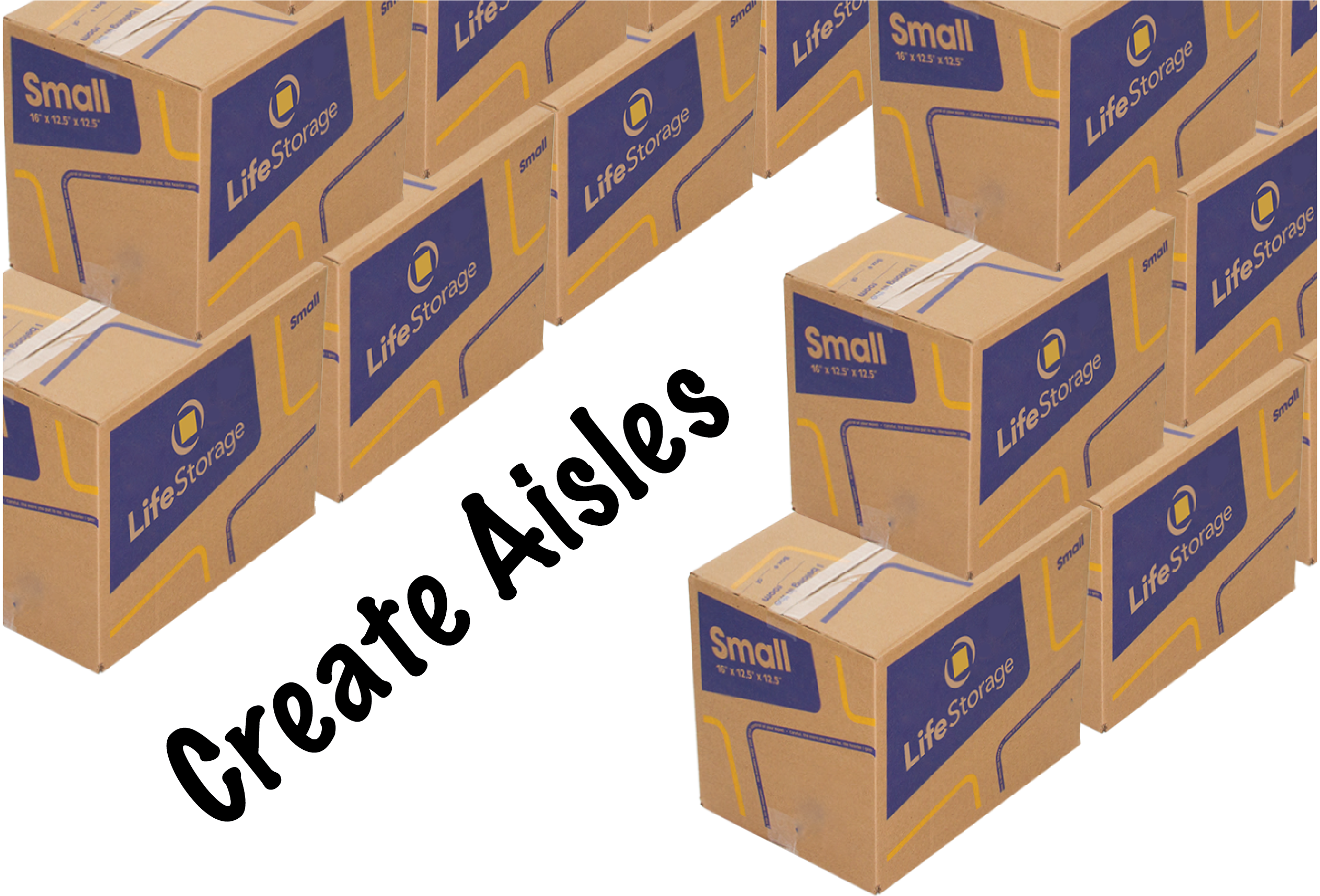 How to store moving boxes in a storage unit