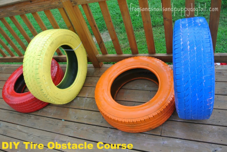 Upcycle Old Tires: DIY Obstacle Course