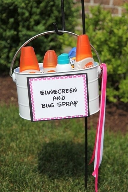 Backyard Graduation Party Ideas it looks so inviting backyard party google search Backyard Graduation Party Ideas Sunscreen And Bug Spray Basket