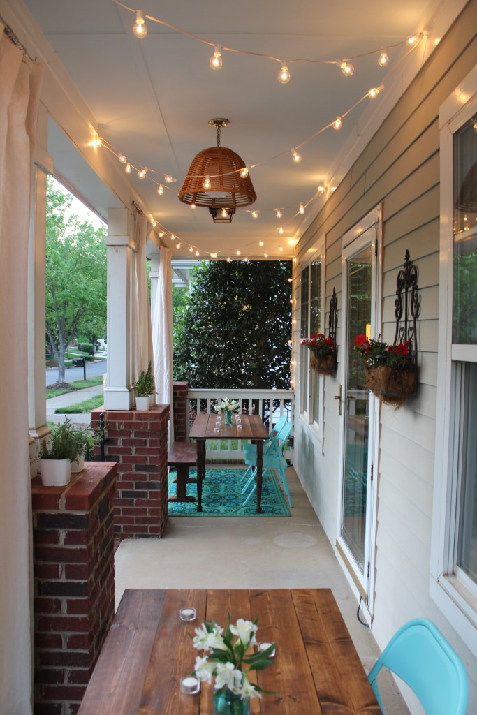 String Lights On A Porch : How to Add Curb Appeal to Your Home For Under USD 75
