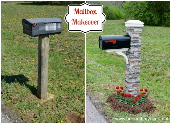 how to add curb appeal: mailbox makeover