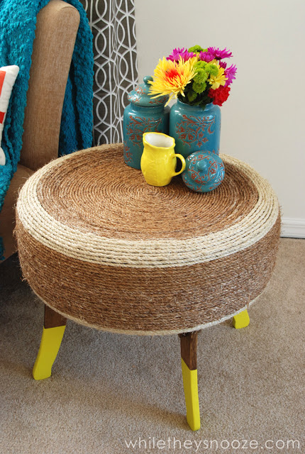 Reuse Old Tires: Tire Rope Table