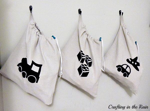 diy toy box ideas: Canvas Toy Bags