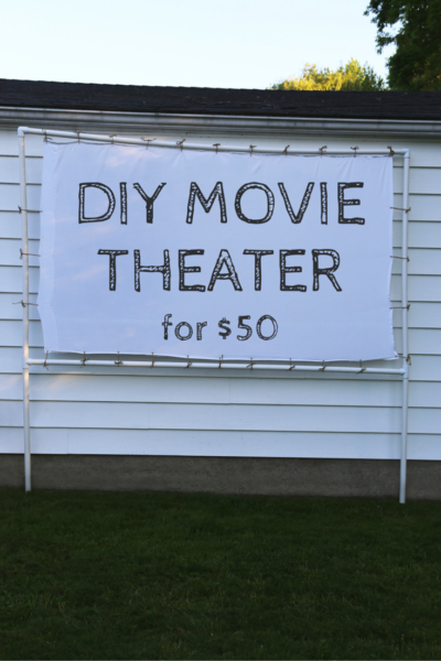 How to Make a DIY Outdoor Movie Theater for Only $50 Using PVC Pipes