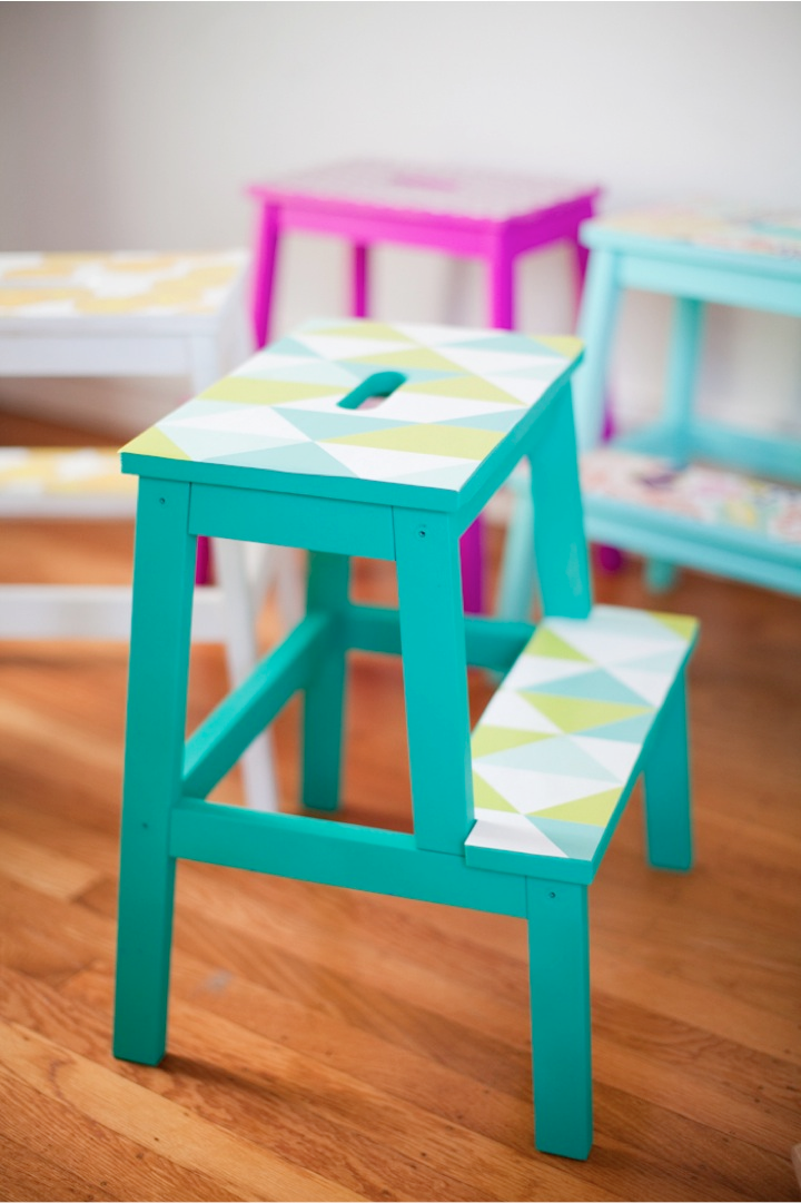wallpaper projects: dressed-up stools