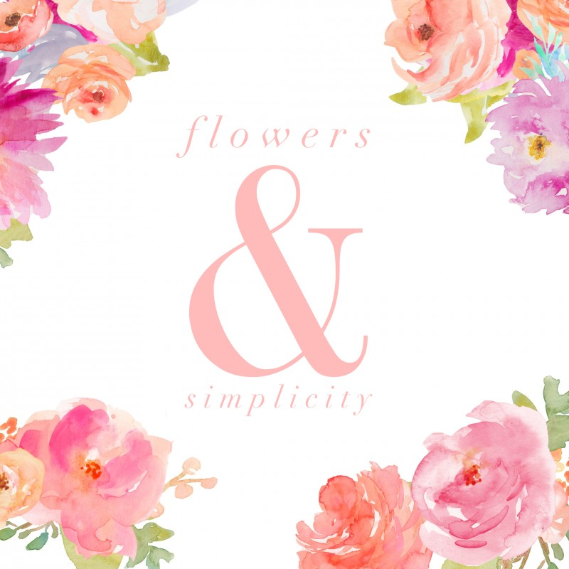 Free Printable: Square Floral Artwork, Flowers and Simplicity