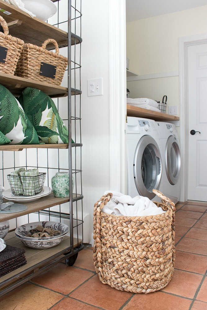Use a Basket as a Laundry Bin