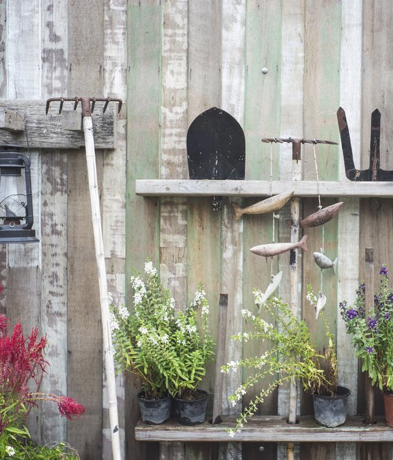 how to organize a shed: Rake and Gardening Organizer