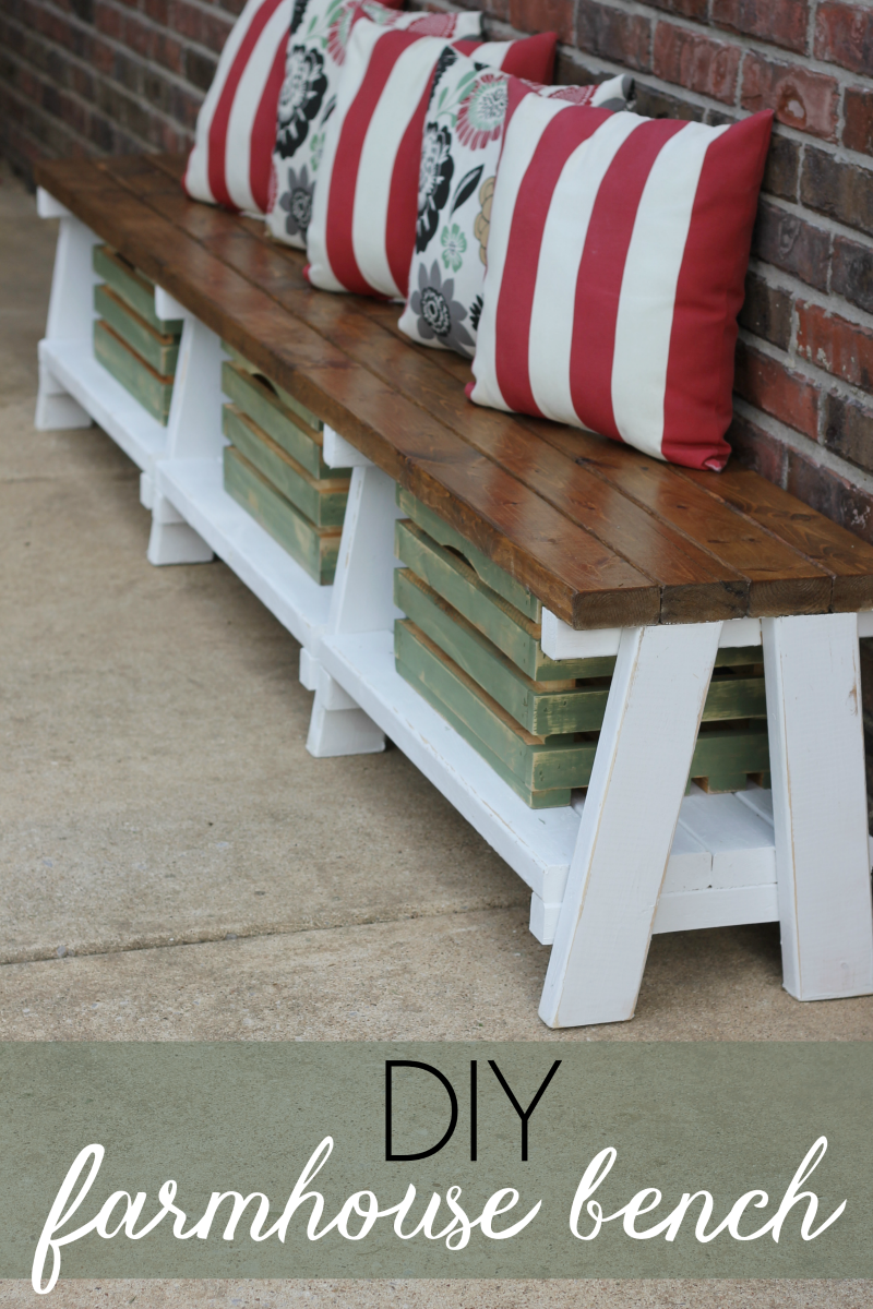 Diy Bench Simple Diy Farmhouse Bench Tutorial With Storage