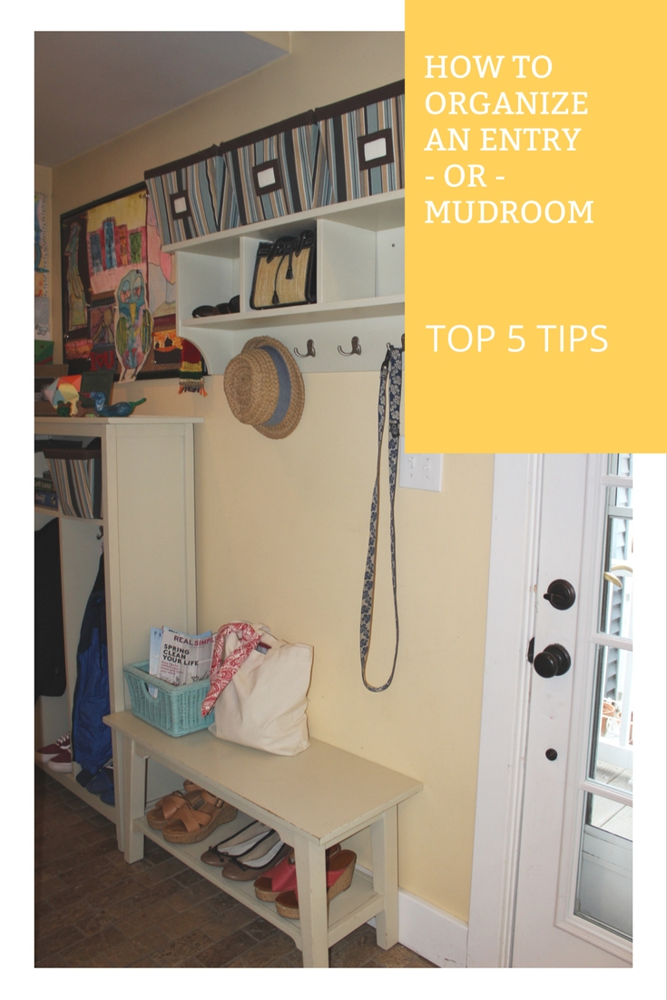 Organizing your mudroom.